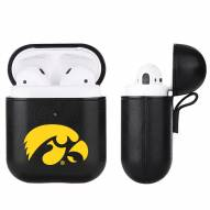 Iowa Hawkeyes Fan Brander Apple Air Pods Leather Case