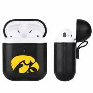 Iowa Hawkeyes Fan Brander Apple Air Pods Leather Case