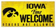 Iowa Hawkeyes Fans Welcome Sign