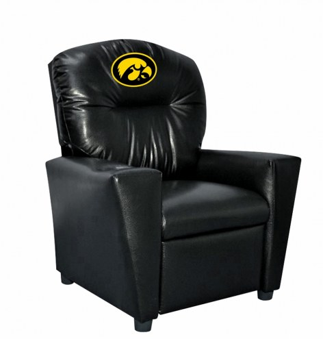 Iowa Hawkeyes Faux Leather Kid's Recliner