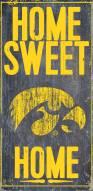Iowa Hawkeyes Home Sweet Home Wood Sign