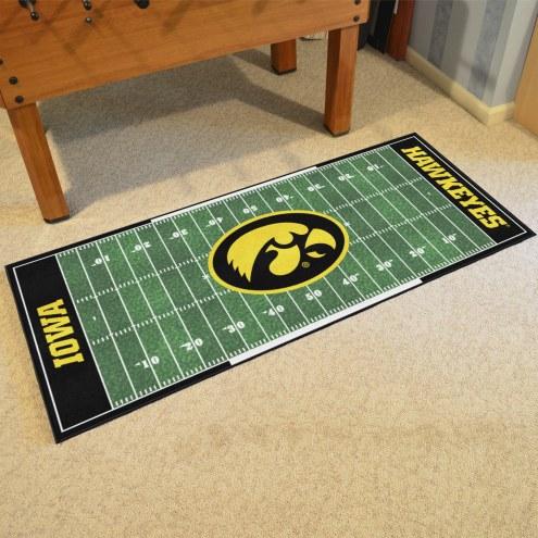 Iowa Hawkeyes Football Field Runner Rug