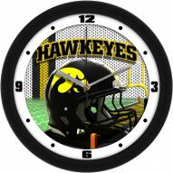 Iowa Hawkeyes Football Helmet Wall Clock