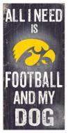 Iowa Hawkeyes Football & My Dog Sign