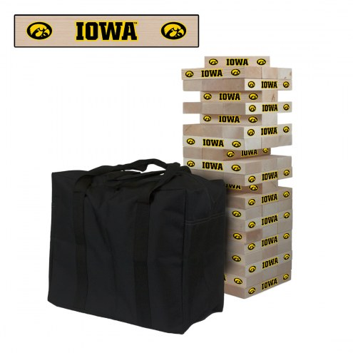 Iowa Hawkeyes Giant Wooden Tumble Tower Game