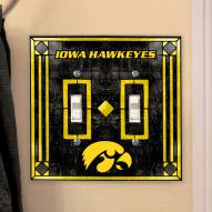 Iowa Hawkeyes Glass Double Switch Plate Cover