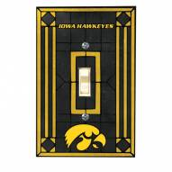 Iowa Hawkeyes Glass Single Light Switch Plate Cover