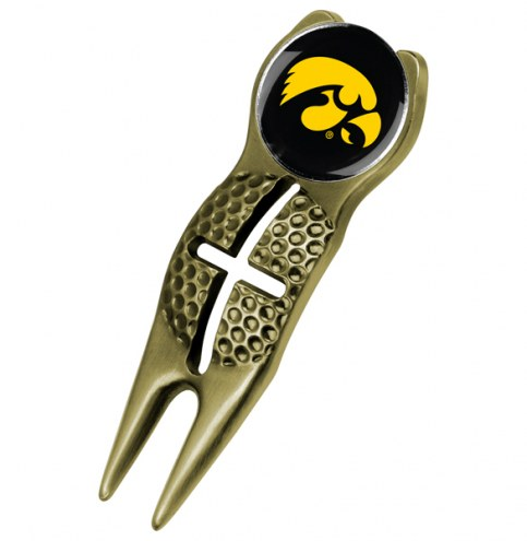 Iowa Hawkeyes Gold Crosshairs Divot Tool