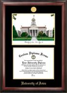 Iowa Hawkeyes Gold Embossed Diploma Frame with Campus Images Lithograph