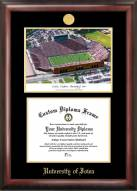 Iowa Hawkeyes Gold Embossed Diploma Frame with Lithograph