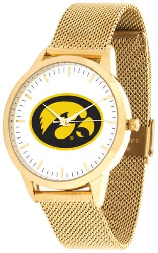 Iowa Hawkeyes Gold Mesh Statement Watch