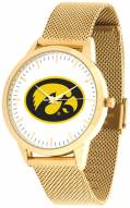 Iowa Hawkeyes Gold Mesh Statement Watch
