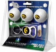 Iowa Hawkeyes Golf Ball Gift Pack with Key Chain