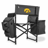 Iowa Hawkeyes Gray/Black Fusion Folding Chair