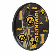 Iowa Hawkeyes Digitally Printed Wood Clock
