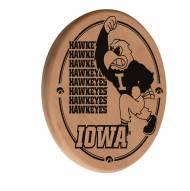 Iowa Hawkeyes Laser Engraved Wood Sign