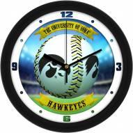 Iowa Hawkeyes Home Run Wall Clock