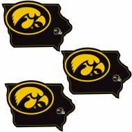 Iowa Hawkeyes Home State Decal - 3 Pack