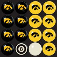 Iowa Hawkeyes Home vs. Away Pool Ball Set
