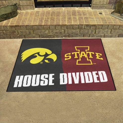 Iowa Hawkeyes/Iowa State Cyclones House Divided Mat
