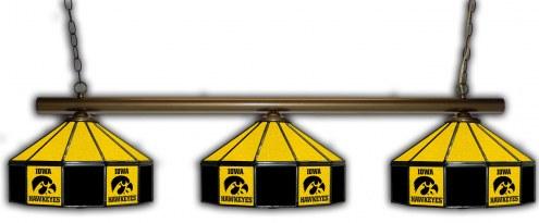 Iowa Hawkeyes 3 Shade Pool Table Light