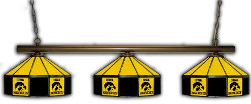 Iowa Hawkeyes 3 Shade Pool Table Light