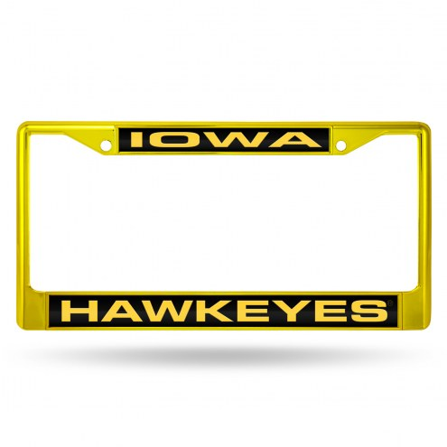 Iowa Hawkeyes Laser Colored Chrome License Plate Frame