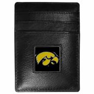 Iowa Hawkeyes Leather Money Clip/Cardholder in Gift Box