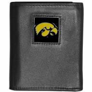 Iowa Hawkeyes Leather Tri-fold Wallet