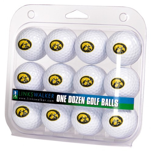 Iowa Hawkeyes Dozen Golf Balls