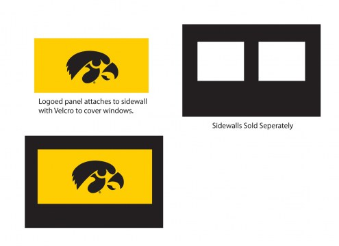 Iowa Hawkeyes Logo Canopy Sidewall Panel (Attaches to Window Sidewall)