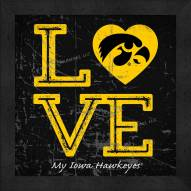 Iowa Hawkeyes Love My Team Color Wall Decor