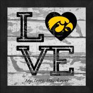 Iowa Hawkeyes Love My Team Square Wall Decor