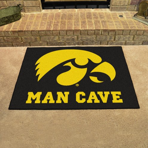 Iowa Hawkeyes Man Cave All-Star Rug