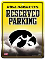 Iowa Hawkeyes Metal Parking Sign