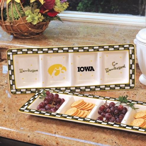 Iowa Hawkeyes NCAA Ceramic Relish Tray