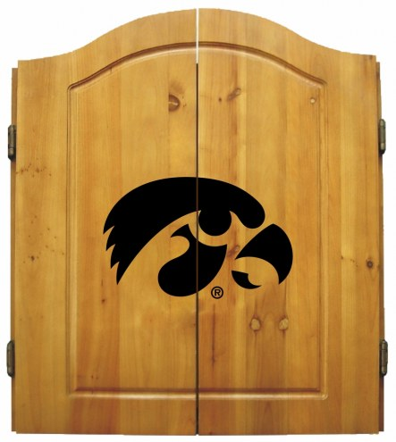 Iowa Hawkeyes NCAA Complete Dart Board Cabinet Set