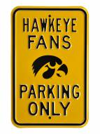 Iowa Hawkeyes NCAA Embossed Parking Sign