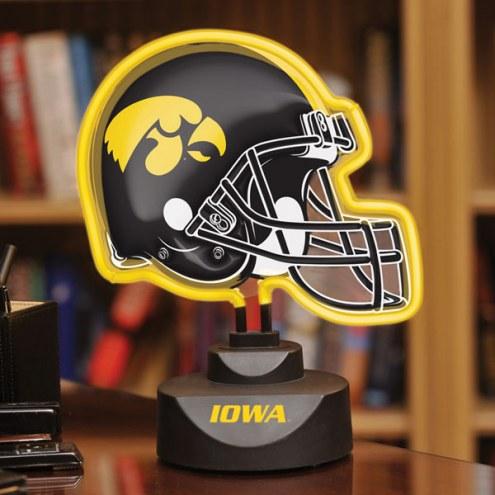 Iowa Hawkeyes Neon Helmet Desk Lamp