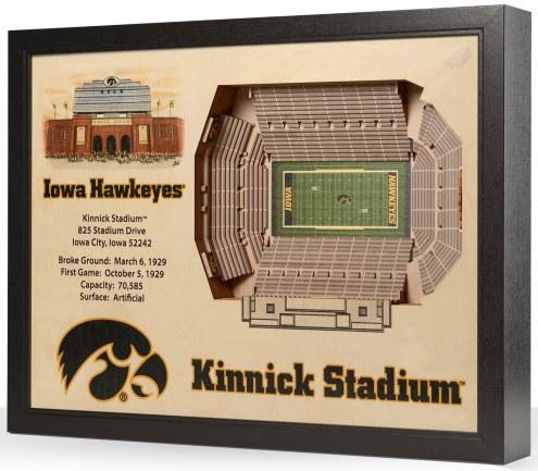 Iowa Hawkeyes 25-Layer StadiumViews 3D Wall Art