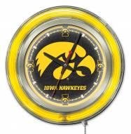 Iowa Hawkeyes Neon Clock