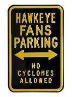 Iowa Hawkeyes No Cyclones Parking Sign