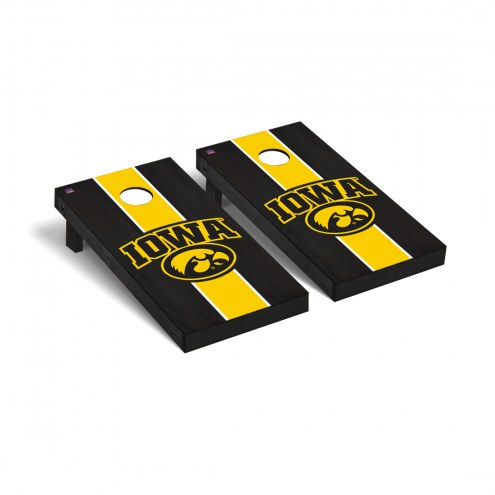 Iowa Hawkeyes Onyx Stained Cornhole Game Set