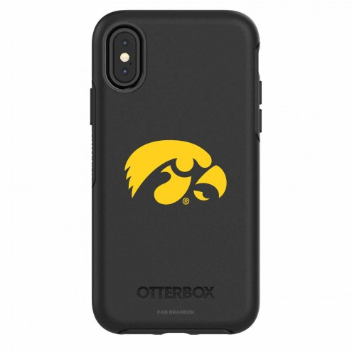 Iowa Hawkeyes OtterBox iPhone X Symmetry Black Case