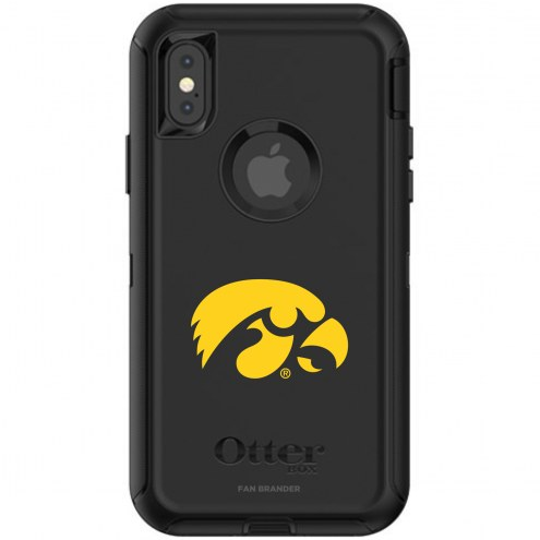 Iowa Hawkeyes OtterBox iPhone X/Xs Defender Black Case