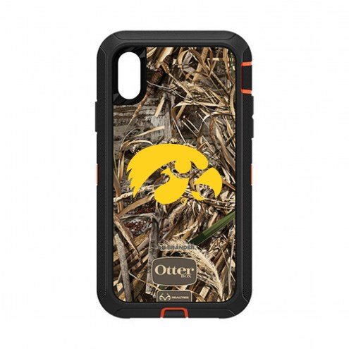 Iowa Hawkeyes OtterBox iPhone XR Defender Realtree Camo Case