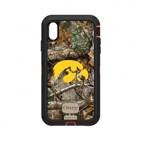Iowa Hawkeyes OtterBox iPhone XS Max Defender Realtree Camo Case