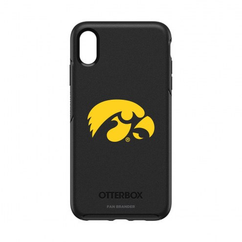 Iowa Hawkeyes OtterBox iPhone XS Max Symmetry Black Case