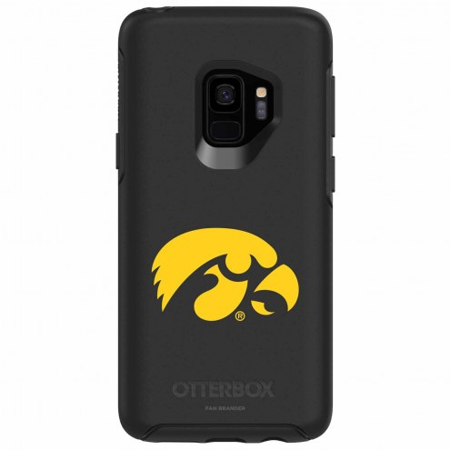 Iowa Hawkeyes OtterBox Samsung Galaxy S9 Symmetry Black Case