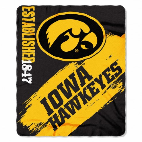 Iowa Hawkeyes Painted Fleece Blanket